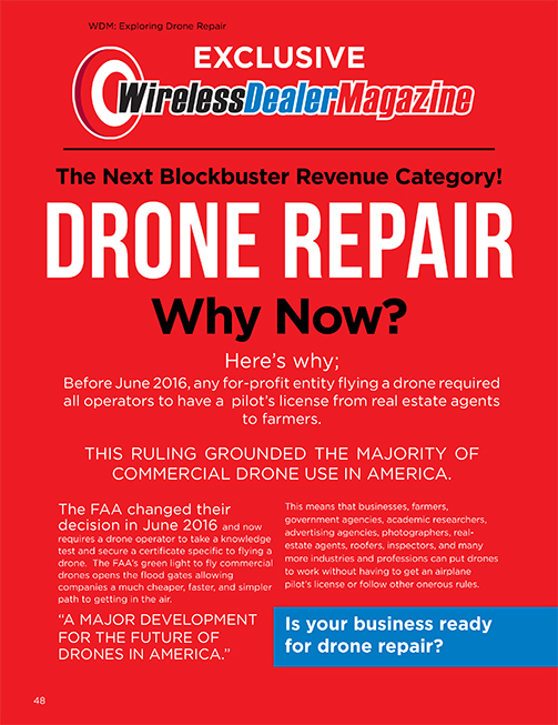 The Next Blockbuster Revenue Category! Drone Repair